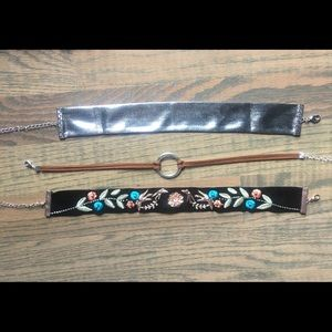 3 pk of chokers! Great condition.